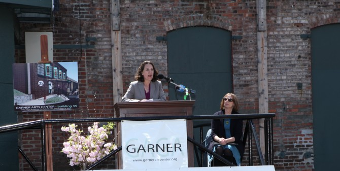 Left: Erin Tobin, Preservation League of NY; Right: Robin Rosenberg, President, Garnerville Arts & Industrial Center